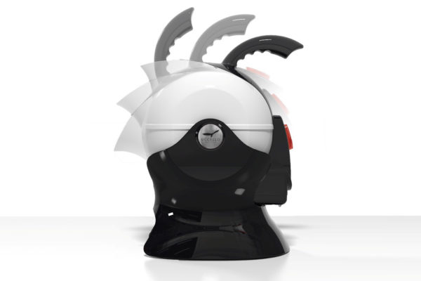 Black and White Uccello Kettle Rotating