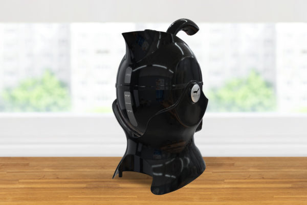3 quarter turn view of the all black Uccello Kettle