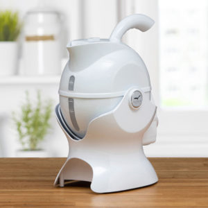 3 quarter turn view of the All White Uccello Kettle