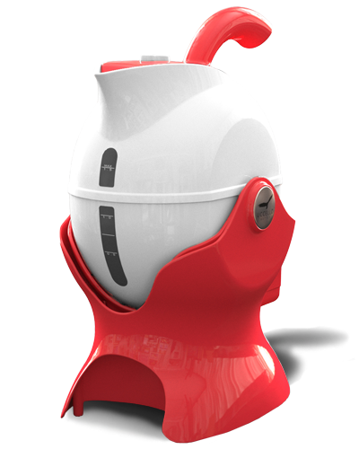 Red and White Uccello Kettle